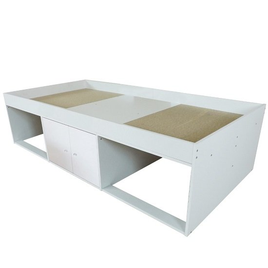 Valerie Low Sleeper Cabin Storage Bed In White_3