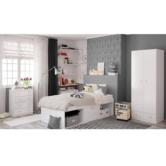 Valerie Low Sleeper Cabin Storage Bed In White_4