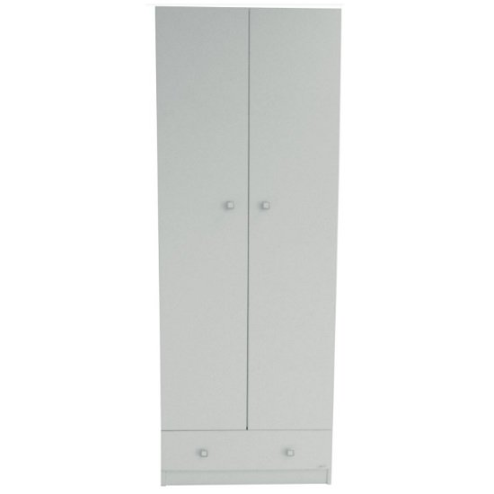 Valerie Wardrobe In White With 2 Doors And 1 Drawer_2