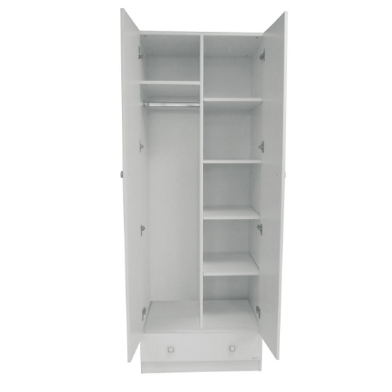 Valerie Wardrobe In White With 2 Doors And 1 Drawer_4