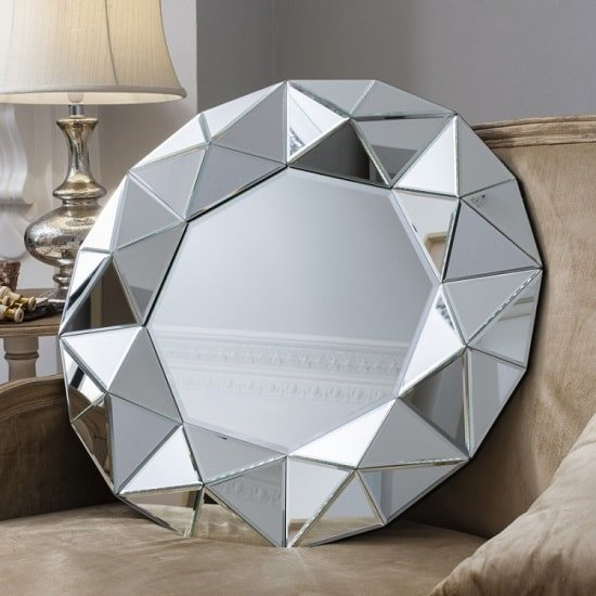 Valois Wall Mirror Round With Mirror Framed