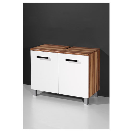 Read more about Elegance baltimore walnut white bathroom vanity