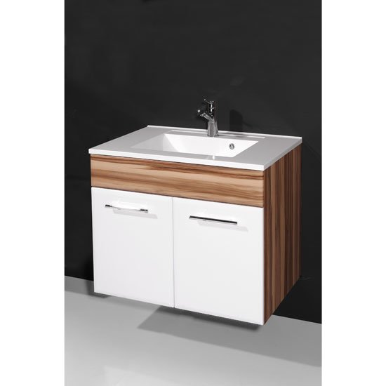 Read more about Marita baltimore walnut and white bathroom vanity