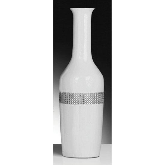 Contemporary Radiance White Vase Vases Furniture
