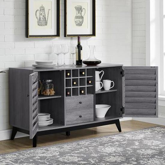 Vaughn Wooden Wine Cabinet In Grey Oak_3