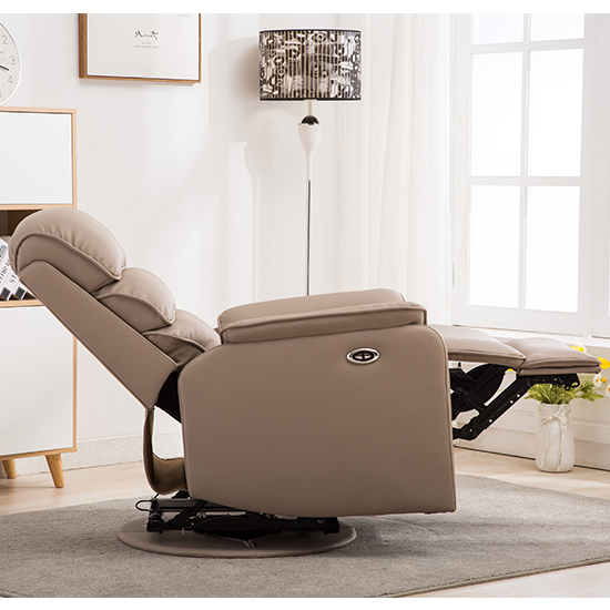 Vauxhall Plush Electric Riser Recliner Chair In Pebble_4