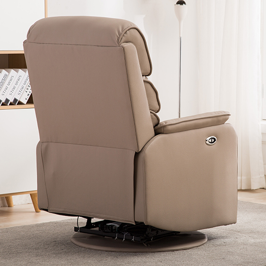Vauxhall Plush Electric Riser Recliner Chair In Pebble_7