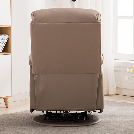 Vauxhall Plush Electric Riser Recliner Chair In Pebble_8
