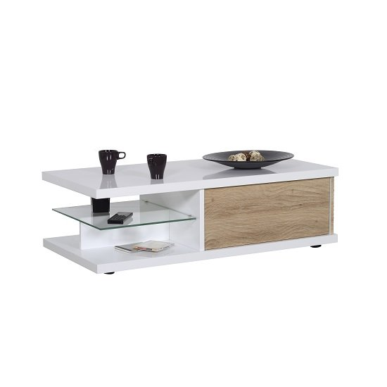 Metz Contemporary Coffee Table In White High Gloss And Oak_1