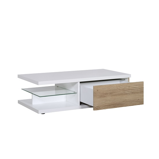 Metz Contemporary Coffee Table In White High Gloss And Oak_2