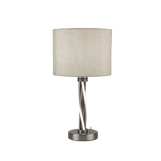 Vegas LED Twist Table Lamp In Satin Silver
