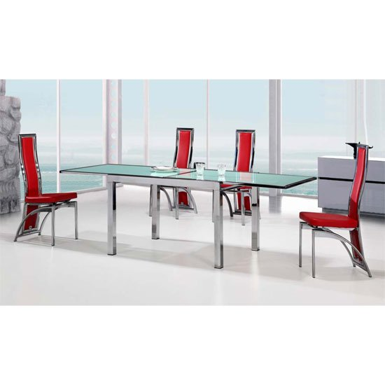 Buy cheap Extending glass dining table and chairs  : vegasF ext dining set6chcgo from evidence.priceinspector.co.uk size 550 x 550 jpeg 30kB