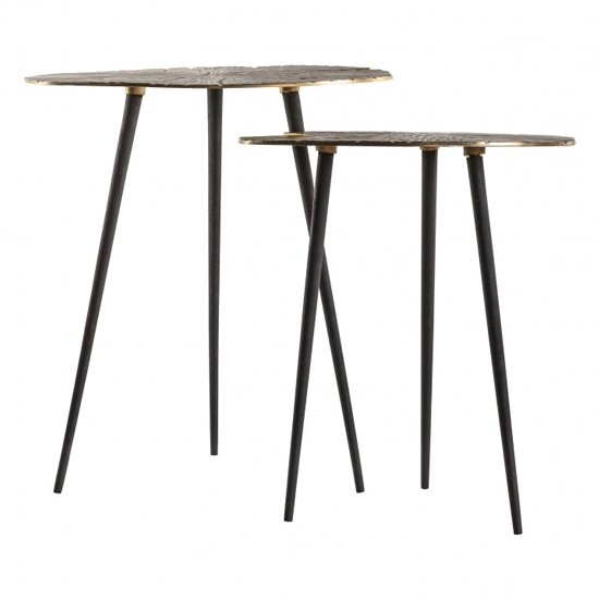 Velance Metal Nest Of 2 Tables In Gold