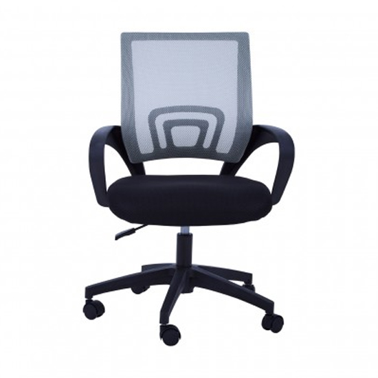 Velika Home And Office Chair In Grey With Armrest_2