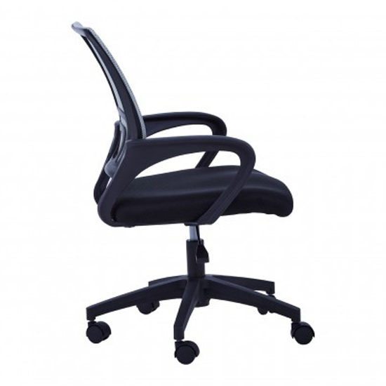 Velika Home And Office Chair In Grey With Armrest_3