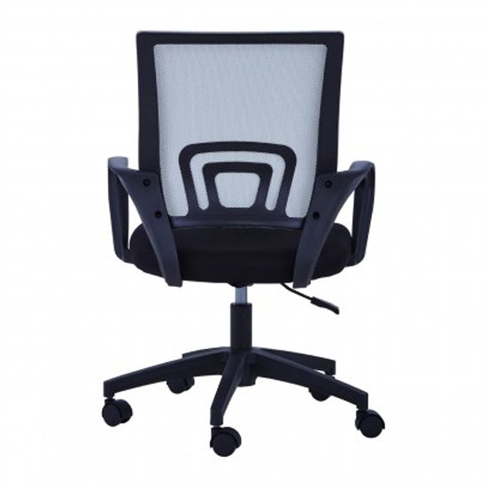 Velika Home And Office Chair In Grey With Armrest_4