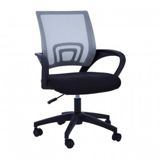 Velika Home And Office Chair In Grey With Armrest_1