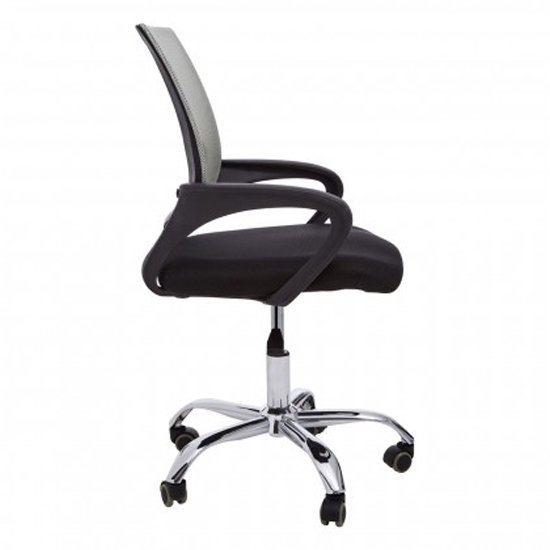 Velika Home And Office Chair In Grey With Black Armrest_3