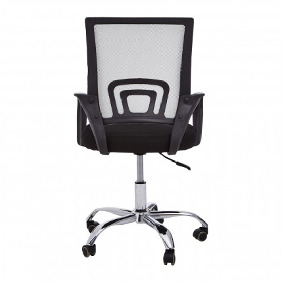 Velika Home And Office Chair In Grey With Black Armrest_4