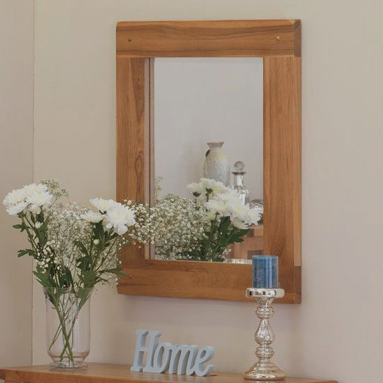 Velum Wall Bedroom Mirror In Chunky Solid Oak Frame