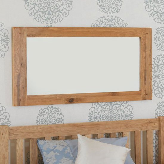 Velum Bedroom Wall Mirror In Chunky Solid Oak Frame