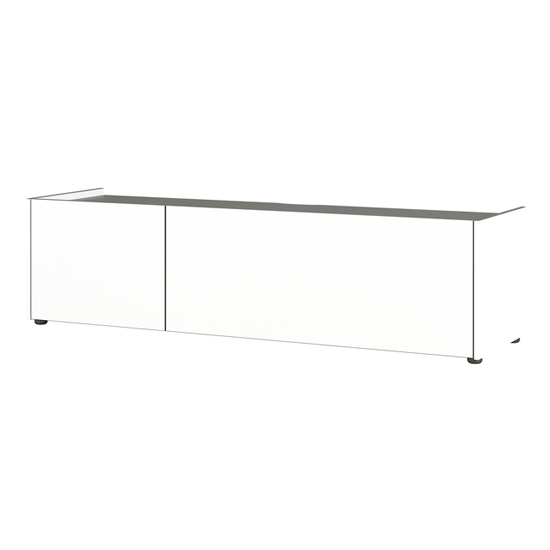 Veluva Lowboard TV Stand In White And Graphite With 2 Doors