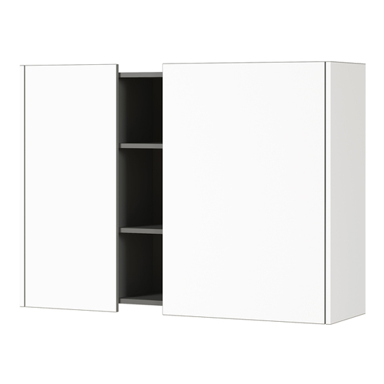 Veluva Wall Storage Cabinet In White And Graphite With 2 Doors