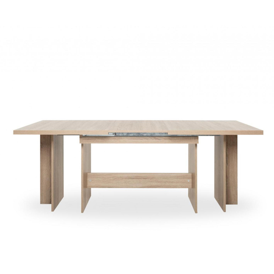 Venatici Extending Dining Table In Sonoma Oak