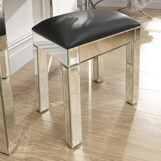 Venetian Dressing Stool In Mirrored Finish