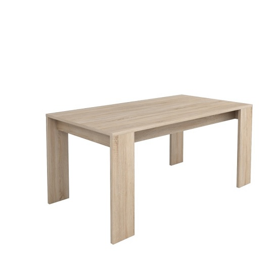 Veneto Wooden Rectangular Dining Table In Brushed Oak