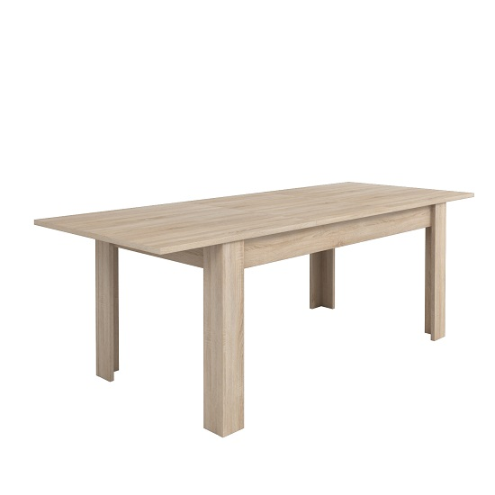 Veneto Wooden Extendable Dining Table In Brushed Oak