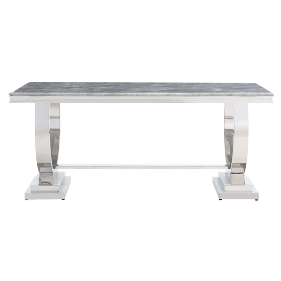 Venica Grey Marble Dining Table With 4 Liyam Grey Chairs_3