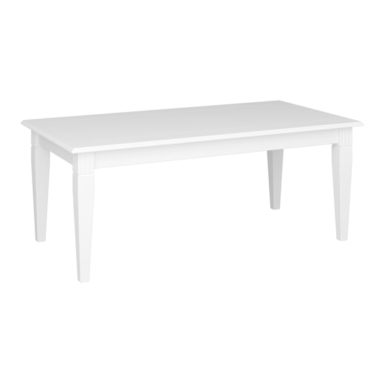 Venice Wooden Coffee Table In White