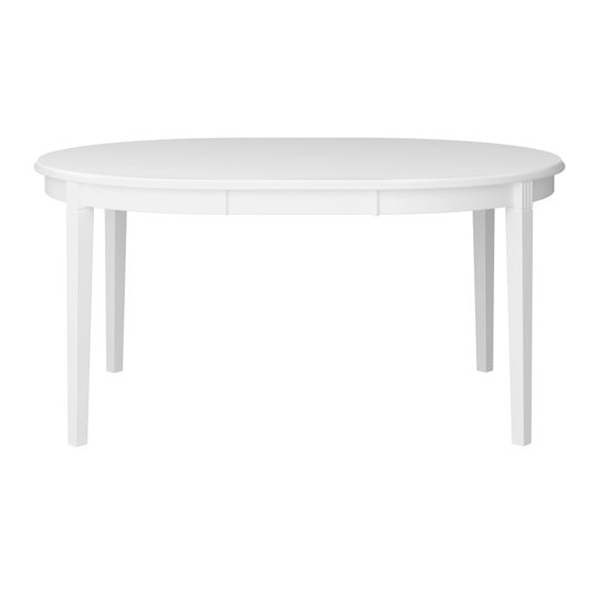 Venice Wooden Dining Table In White_2