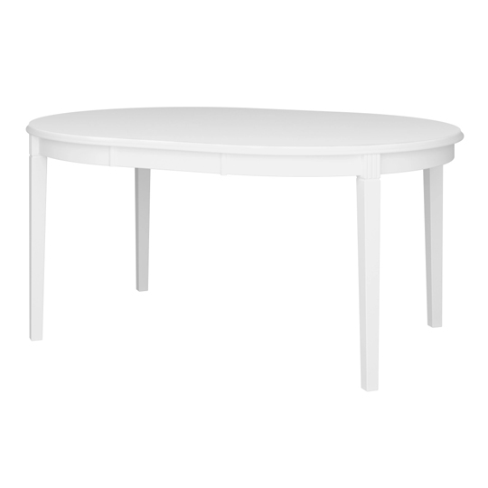 Venice Wooden Dining Table In White_3