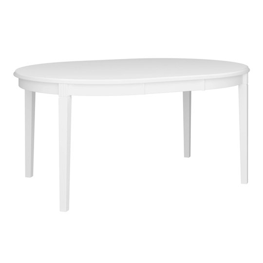 Venice Wooden Dining Table In White_1