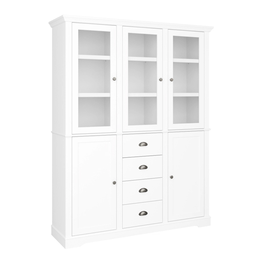 Venice Display Sideboard In White With 5 Doors And 4 Drawers