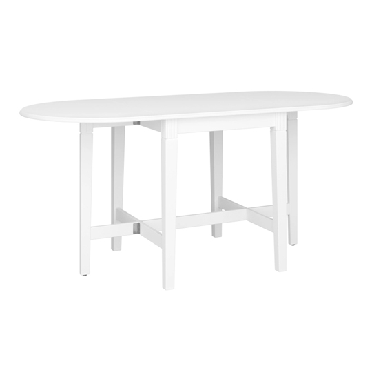 Venice Wooden Extending Dining Table In White
