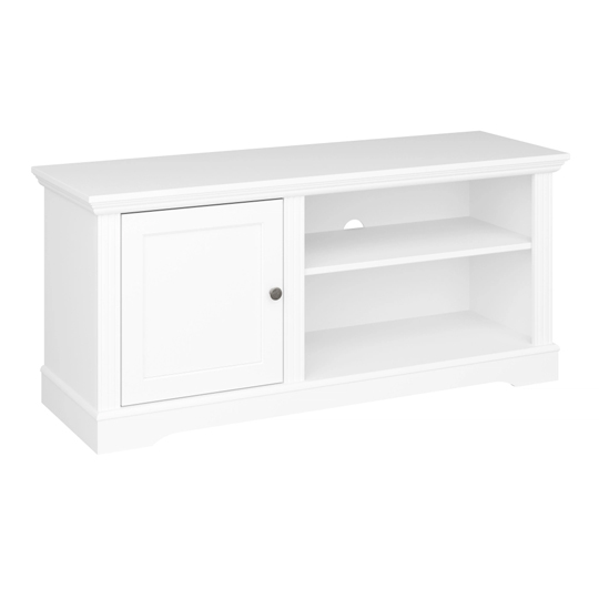 Venice Wooden TV Cabinet In White With 1 Door