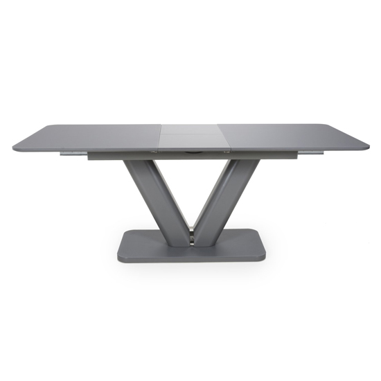 Venus Extra Large Extendable Grey Tempered Glass Dining Table_3