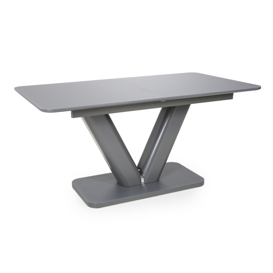Venus Extra Large Extendable Grey Tempered Glass Dining Table_2