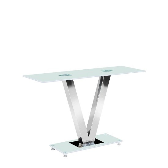 Venus Console Table Rectangular In Frosted White Glass