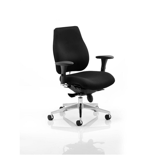 Veranda Office Chair In Black With Arms