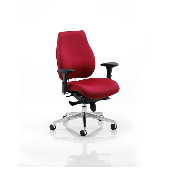 Veranda Office Chair In Wine With Arms