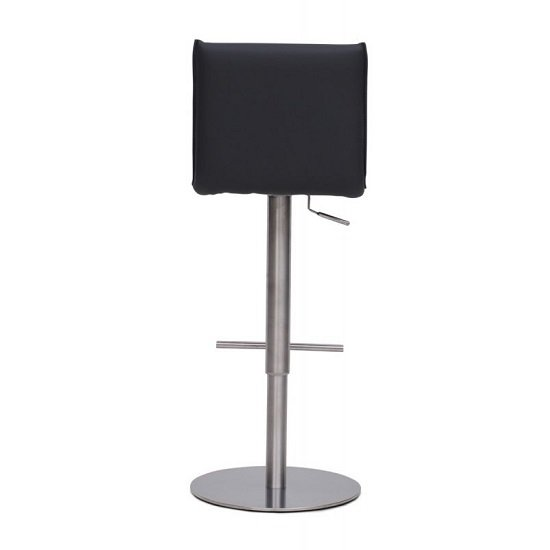 Verlo Bar Stools In Grey Faux Leather In A Pair_2