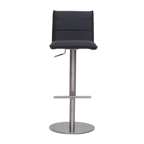 Verlo Bar Stools In Grey Faux Leather In A Pair_3