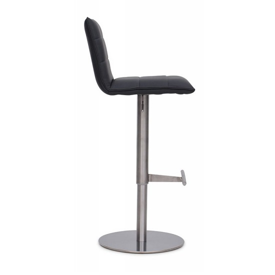 Verlo Bar Stools In Grey Faux Leather In A Pair_4