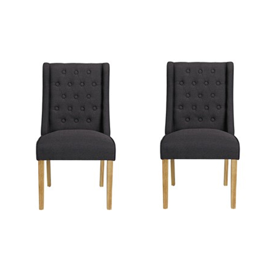 Verona Charcoal Finish Dining Chairs In Pair