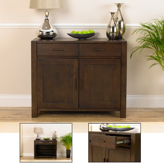 Milan Dark Oak Small Sideboard 14050 Furniture In Fashion