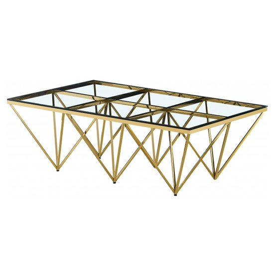Verona Large Clear Glass Coffee Table With Gold Steel Legs_2